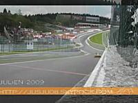 F1早すぎ糞吹いたwF1とGT選手権の動画を合成したらF1の凄さがリアルった