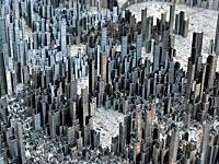 大都会の高層ビル群をホッチキスの芯で表現してみた 根気の作品が凄いぞ