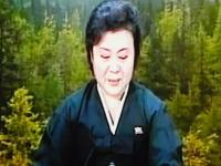 金正日死亡で例のおばさんが復活。悲痛な表情でニュースを読み上げる。