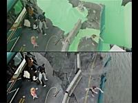 映画の中ではどの様なシーンで特殊撮影が使われているのか。比較映像。