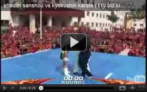 極真空手vs少林拳 最強の少年達による熱い戦い!