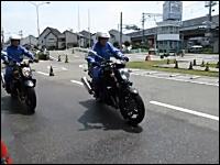 二輪車のABSの有効性。SUZUKIバンディット1250ABSのブレーキングテスト