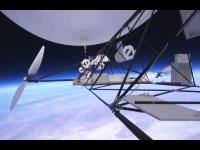 飛行船で成層圏に到達したった動画。青い地球を優雅に眺めながら飛行