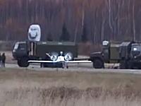 ロシア無人偵察機の試作機、離陸に失敗して墜落。大破して炎上してオワタ