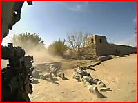 緊迫感が凄いリアル銃撃戦。アフガニスタンの米国陸軍が突然襲撃される映像