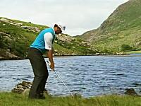 プロゴルファーが遊んでみた。180メートル離れたわずか20センチの的を狙う