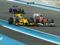 ライバルに中指を突き立てるF1ドライバーたち。アブダビのフェルナンドは・・・。