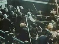 大田区で発生した警官隊と学生の激しい大乱闘 1967年羽田事件の映像