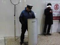 無差別殺人予告で厳戒態勢の新宿駅の様子。犯人は12日に逮捕済み。