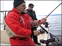魚釣りでサメ以外のものに釣った魚を奪われてしまう珍しいパターン。