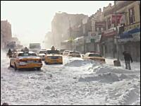 映画みたいな光景。年末にニューヨークが大変な事になっていたらしい動画