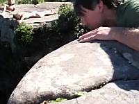 高所恐怖症動画。滝を上から眺める事ができるカショエイラダ・フマッサの滝