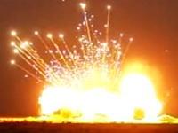 ばーん!680kgの爆薬が爆発する様子をスローモーションで