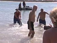まさか投稿動画が元で職を失う事になるなんて・・・。ビーチでサメを退治する様子がアップされ病欠のウソがバレてクビに。