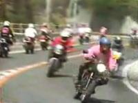 80年代バイクの走り屋絶頂期の峠の映像 バイクとギャラリー多すぎスゴイw