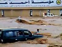 必死の救助。土石流に流されている人たちを力を合わせて救助している映像