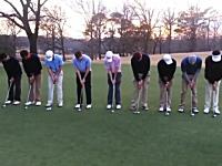 9人のゴルファーが同時パットして気持ちいい動画の完成キタ――(゚∀゚)――!!