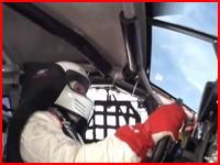 時速426キロメートルでクラッシュする車の車載映像。ボンネビル・ソルトフラッツ