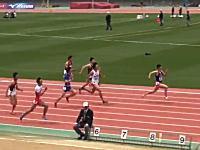 洛南高校の桐生祥秀くん(3年)が100メートルを10秒01!世界最速の17歳に
