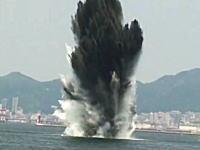 水柱80メートル!神戸港で行われた機雷爆破処理の映像がなかなか凄い