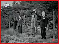 ナチスとの共犯の罪で銃殺されるイオン・アントネスク元帥の映像 再生注意
