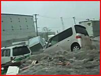 津波にのまれた車の中から撮影された凄い映像。これは本気で怖すぎる