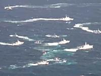 海戦。尖閣沖で台湾漁船団&巡視船vs海保巡視船の放水銃合戦が勃発。