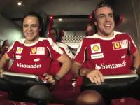 マッサとアロンソが世界最速のジェットコースターに乗ってみた。フォーミュラ・ロッサ