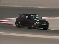 日産ジュークRのサーキット走行動画+ランボルLP560&フェラリ458Italiaとミニレース