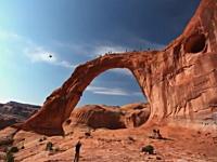 凄い場所だな。大自然のトンネル?を使ったロープスイング。ヒャッホー!
