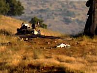 シリア動画。発射された弾が政府軍の戦車を破壊するまでが撮影された映像