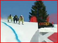 ワールドカップ(W杯)スキークロスで死亡事故。着地でネットに激しく激突