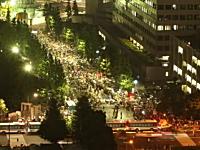 6日に首相官邸前で行われた反原発デモを60秒間で見る。大飯原発再稼働