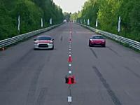 チューンド対決。日産GT-Rvsポルシェ911。早いのは!?1mileドラッグレース