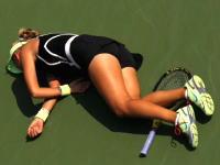 テニスの試合中に選手が突然倒れる。9/1全米オープン女子シングルス2回戦