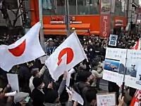 在特会のデモにカウンターデモ!新大久保は殺伐とした雰囲気だった動画