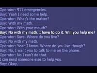 宿題の答えを教えてもらおうと911(110番)しちゃった男の子の音声記録