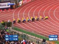 人類最速の男ウサイン・ボルトが男子100メートル走で負けてしまう。DL2013