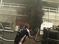 【F1】優勝後のウイリアムズのガレージで爆発と大規模な火災が発生。
