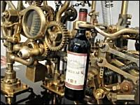 ワインを注ぐためだけに作られた大掛かりな機械がカッコイイ。レトロマシン