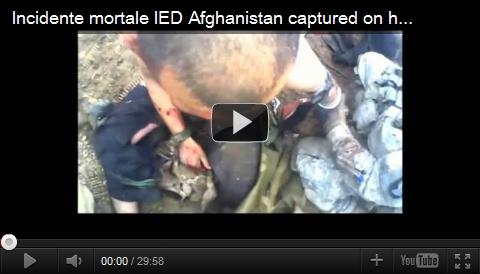 アフガニスタンでの衝撃映像。ヘルメットカメラ。