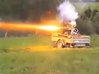 ロケットエンジンの推力すごす。空中Uターン空中くるくる。ロケット失敗動画