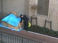 ホームレスvs警備員 立ち退かないホームレスにブチギレた警備員がっ!