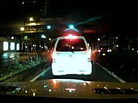 堺市。ワゴンRの当て逃げ映像。前の車に追突して逃げる時にうp主に追突。