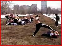 これはマジでおそロシア。ガタイの良い大人20対20の大決闘大会(@_@;)