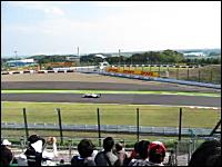 F1鈴鹿GP金曜日フリー走行を見に行ってきたったニッキ。130R出口で見た